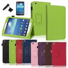 Colors Folio Leather Stand Cover Case For Samsung Galaxy Tab 3 8 Inch 8.0 Tablet