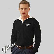 Zelanda All Blacks Estilo Retro Camiseta De Rugby/Jersey con gratuito
