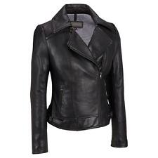 Wilsons Leather Womens Zipper Collar Leather Cycle Jacket