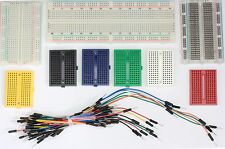 Solderless Prototype PCB Breadboard, Jumper Leads Wires 7 Colour