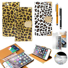 """Luxury Leather Flip Cover Credit Card Wallet Case For iPhone 6 / 6S 4.7"""" Stand"""
