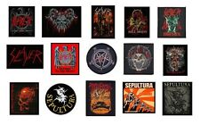 # SLAYER / SEPULTURA - OFFICIAL SEW ON PATCH -  various patches logo metal