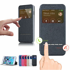 Smart Front Window View Flip PU Leather Case Cover For Apple iPhone 6S & 6S Plus