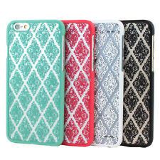 "For iPhone 6 4.7"" Vintage Lace Damask Pattern Slim Matte Hard Case Thin Cover"
