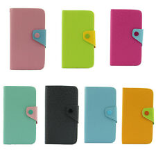 NEW Hybrid Wallet PU Leather Case Flip Cover FOR SAMSUNG Galaxy Note 2 II N7100