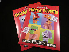 Easy Craft Wiggly Eyed Paper Make Your Own 4 Dinosaur or 4 Animal Finger Puppets