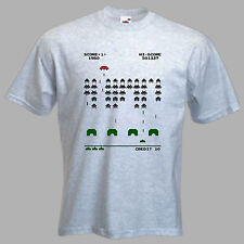 Mens SPACE INVADER T-Shirt. Retro 'Space Invader' 'T Shirt' for MEN.