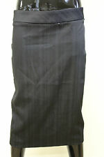 Morgan De Toi womens rifing pin stripe fitted straight pencil knee length skirt
