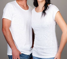 T-SHIRT MODA COTONE FIAMMATO TAGLIO AL VIVO MADE IN ITALY WHY SO HAPPINESS