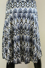 Morgan De Toi womens patterned Jonki chiffon party wiggle hem silver/blue skirt