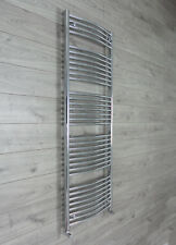 600mm Wide 1650mm High Chrome Heated Towel Rail Rad Radiator Curved Electric