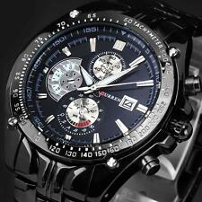 Curren Montre Homme Date Acier Inoxydable Bracelet Sport Quartz Wrist Watch