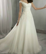 2015 Stock New white/ivory Wedding Dress Bridal Gown Size: 6 8 10 12 14 16