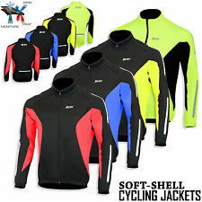 Cycling Winter Soft Shell Jacket Windproof Thermal Long Sleeve Coat Wind Breaker