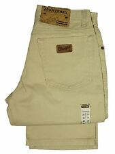 MENS WRANGLER JEANS IN STONE COLOUR STRAIGHT LEG SIZES 30S 32R SALE PRICE