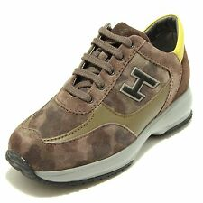 HOGAN scarpe JUNIOR Sneakers HXC00N025827AG2B58 INTERACTIVE FLOCK BROWN 66703 +