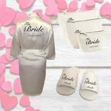 Personalised Bridal Wedding Kit; Robe Slippers and Bags | Gift for Bridal Party