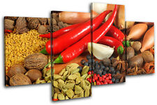 Spices Peppers Food Kitchen MULTI LONA pared arte Foto impresion