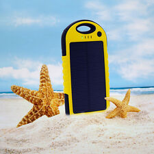 5000mAh Solar Power Bank Battery Charger for Cell Phone Dual USB Waterproof