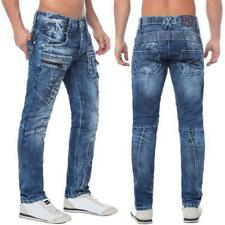 Cipo & Baxx C 1178 Herren Jeans Denim Zipper Regular Fit Used Look blue Straight