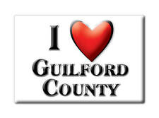 SOUVENIR USA -  BRAND NEW GIFT FRIDGE MAGNET AMERICA I LOVE GUILFORD COUNTY