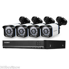 1TB HDD 8CH Channel DVR Onvif 1080P NVR Outdoor 1200TVL Camera CCTV Security Kit