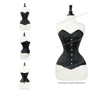 16 Full Steel Boned Heavy Lacing Satin Overbust Corset #CST1 B-SA