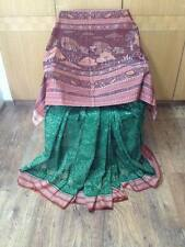 Indo Mood Hand Woven Pure Cotton Sambalpuri Ikat Jungle Motif Green & Rust Saree
