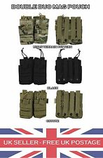 Tactical Double Duo Mag Pouch MOLLE Ammo Airsoft MTP Magazine Quick Black Coyote