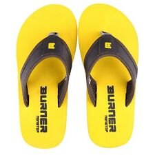 Burner Flip Flops - Plastic Moulded or Hawaii Chappals In Grey/Yellow Colour