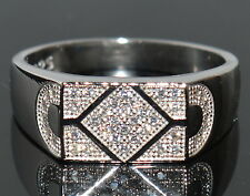 STERLING SILVER Diamond 925 Silver Ring For Men 18,21,24, 26 Size Ring Avaliable