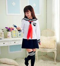 [wamami]Adult Girl White Cosplay Japanese Sailor School Uniform Costume Clothing