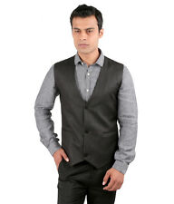 JHAMPSTEAD Sleeve Less Sleeves Plain TR Slim Fit Black Waist Coat