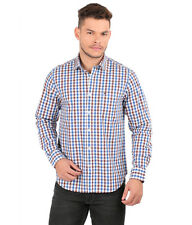 Oxemberg Full Sleeves Plain 100%  Cotton Slim Fit Blue Shirt