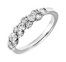 F/SI 0.50ct Round Brilliant Cut Diamonds Half Eternity Wedding Ring in Gold