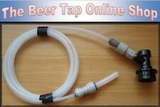 "3/8"" & 3/16"" Beer Line/Pipe + Liquid Ball Lock Disconnect. Cornelius/Corny Kegs"