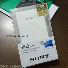 ORIGINAL SONY CP-V6 6100mAh BATTERY POWER BANK MICRO USB PORTABLE CHARGER
