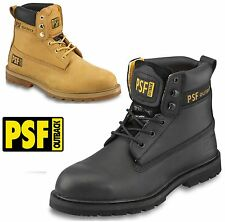MENS PSF OUTBACK LEATHER STEEL TOE CAP MIDSOLE SAFETY WORK HIKER SHOES BOOTS SZ