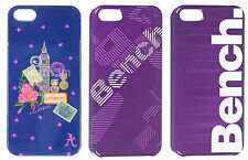 Genuine Bench Protective Shield Purple Geo Look Back Case Cover For iPhone 5 ,5S