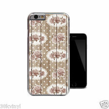 Wood Floral Polkadot Vintage Flowers Case For iPhone 4 4s 5 5s 5c 6