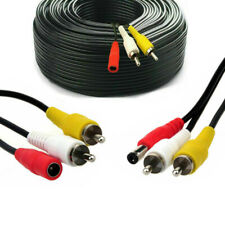 CCTV Security DVR Camera Phono RCA Video Audio AV DC Power Cable Plug 5m 15m 30m