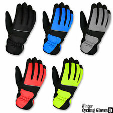 Mens Cycling Winter Gloves Windproof Full Finger Palm Protection MTB Gloves