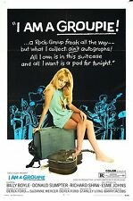 I AM A GROUPIE Movie Poster 1970 Exploitation Sex XXX