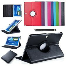 """360 ROTATING LEATHER STAND CASE COVER FOR SAMSUNG GALAXY TAB 4 10.1"""" / 8'' / 7''"""