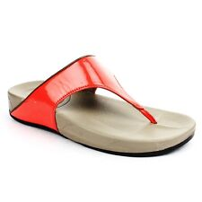 LIBERTY GLIDERS RED CASUAL SLIPPERS for Women - PU CFB (DIVA-03-RED)