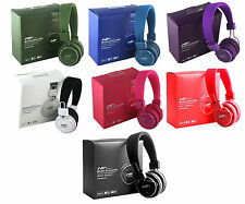 Nia Micro SD Card Stereo Headphones For IPhone/FM Radio/MP3/MP4 With Mic & Aux