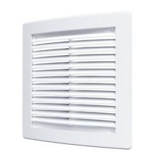 Air Vent Grille Ducting Ventilation Cover Grid White Brown 150mm 200mm 300mm