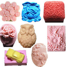 DIY Silicone Soap Mold Candle Mould Flower Clay Mold Cake Chocolate Mould 8 Kind