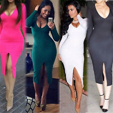 Robe Soirée Sexy Femme Robes Robe Moulante Robe Ouverture Robe Manches Longues