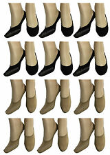 6 Pairs Women's invisible Liner Trainer Shoe No Show Footless Secret Socks UK4-7